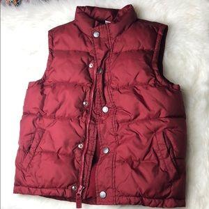 Boys 5-6 puffer vest maroon burgundy